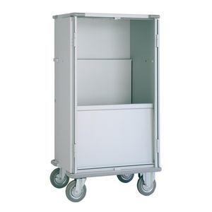 transport trolley / loading / clean linen / dirty linen