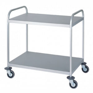 multi-function trolley / for linen / with shelf / medical
