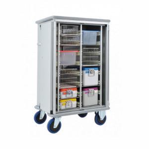 sterilization cabinet / hospital / 2-door / with hinged door