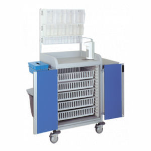 multi-function trolley / for general purpose / with basket / with door