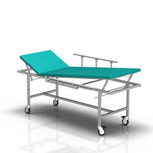 fixed-height examination table / on casters / 2 sections
