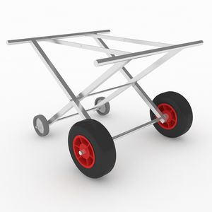 mortuary trolley / for caskets / folding