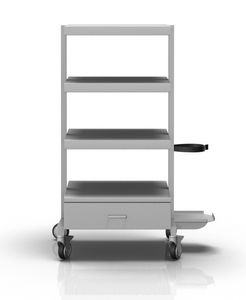 transport trolley / for medical devices / with drawer