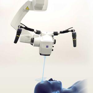 neurosurgery microscope / ceiling-mounted