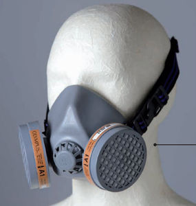 medical safety mask / with exhalation valve / with changeable filters