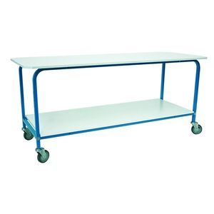 medical instruments packing table / linen inspection / rectangular / on casters