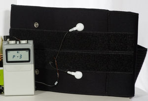 electric stimulation belt / wearable / TENS