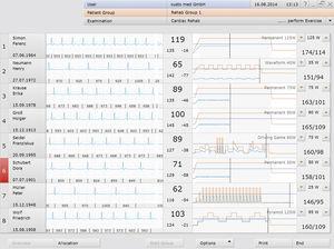 rehabilitation software / monitoring / control / cardiac
