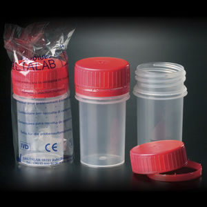 polypropylene sample container