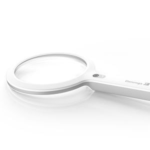 medical lamp / LED / hand-held / magnifying