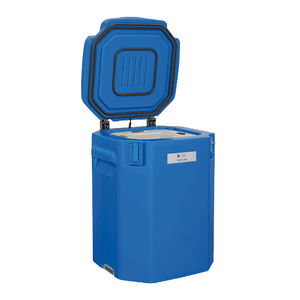 vaccine refrigerator / chest / with ice pack backup / solar-powered