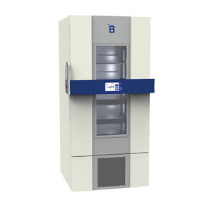 blood bank refrigerator / upright / stainless steel / large capacity