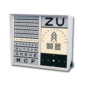 illuminated eye chart