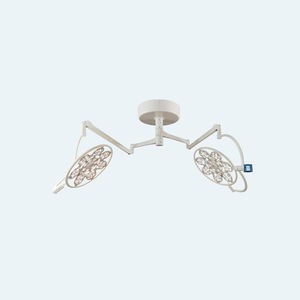 ceiling-mounted surgical light / LED / 2-arm