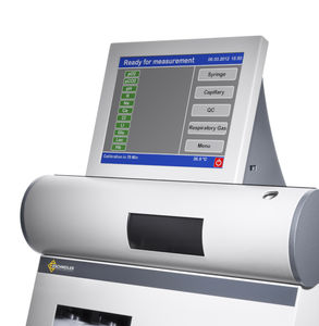 blood gas analyzer with touchscreen