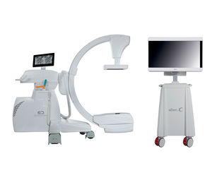 mobile C-arm / with flat panel detector / with video column