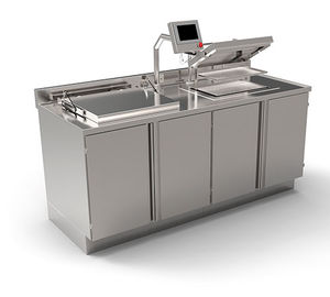 pre-cleaning station with ultrasonic cleaner