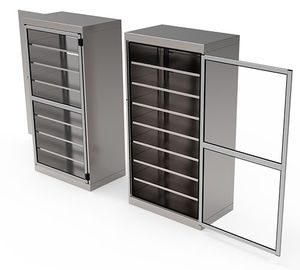 sterile material cabinet / for clean rooms / with shelf / 1-door