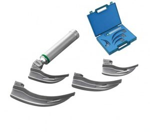 fiber optic laryngoscope handle / LED / xenon / disposable