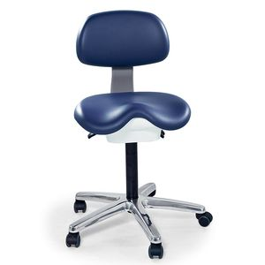 healthcare facility stool / height-adjustable / tilting / hydraulic