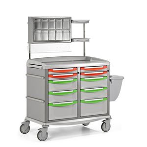 transport trolley / for general purpose / with drawer / with waste bin