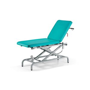 electric examination table / height-adjustable / with adjustable backrest / 2 sections