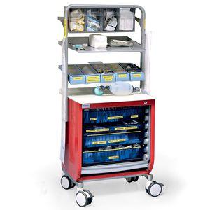 emergency cabinet / hospital / with shelf / with tambour door