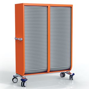 transfer cabinet / hospital / 2-door / with tambour door