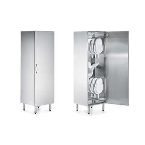 bedpan cabinet / hospital / 1-door / stainless steel