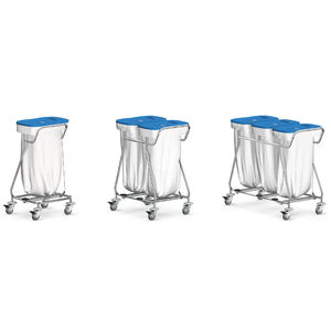service trolley / for linen / waste / 1-bag