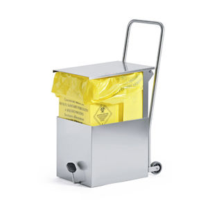 service trolley / for linen / waste / 1-tray