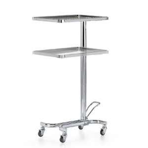 service trolley / for instruments / 2-tray / hydraulic