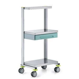 service trolley / equipment / for instruments / 1-drawer
