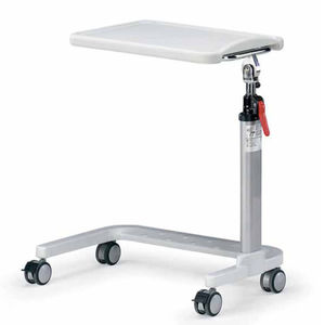 overbed table on casters / height-adjustable