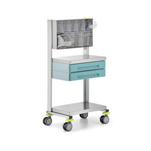 service trolley / equipment / for instruments / 2-drawer