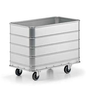 service trolley / cleaning / for linen / with large compartment