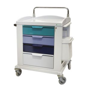 multi-function trolley / 4-drawer / 1-tray / with waste bin