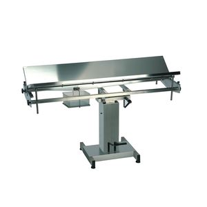 veterinary surgical table / hydraulic / manual / height-adjustable