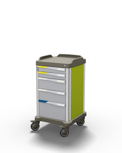 multi-function trolley / medicine distribution / transport / with drawer
