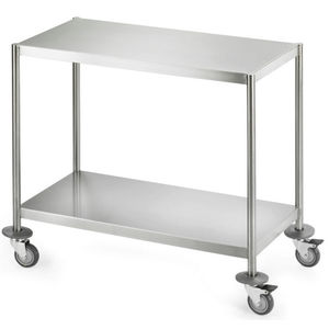 operating room trolley / transport / for instruments / with shelf