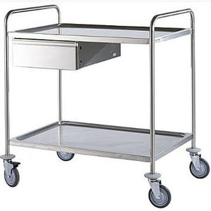 multi-function trolley / for operating rooms / for surgical instruments / with drawer