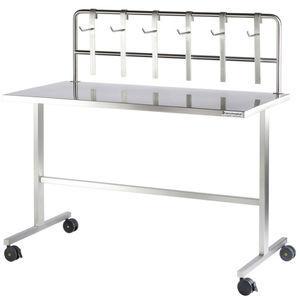 worktop on casters / stainless steel / sterilization