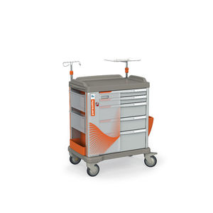 emergency trolley / transport / storage / for suction units