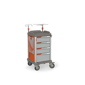 emergency trolley / transport / storage / defibrillator