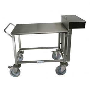 mortuary trolley / for veterinary clinics / for instruments / with drawer