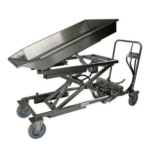 dissection trolley / for veterinary clinics / for general purpose / height-adjustable