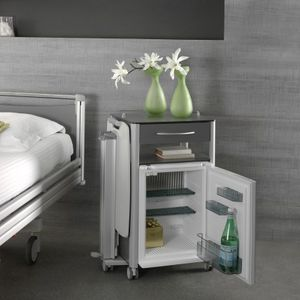 Bedside Table On Casters 02476 Haelvoet With Drawers With Refrigerator Compartment