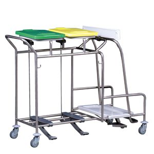 storage trolley / for linen / trash can / 2-bag