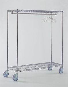 storage rack / mobile / stainless steel