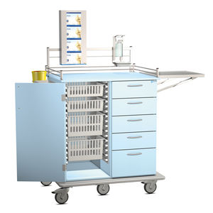 treatment cart / for general purpose / with drawer / with shelf